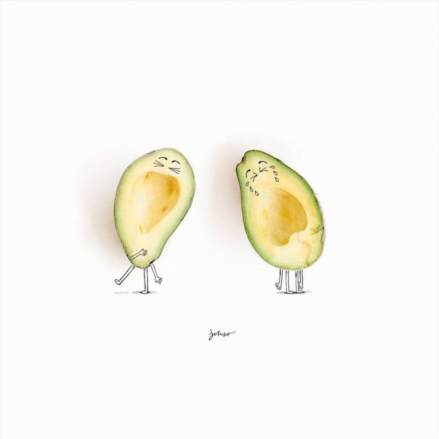 Fruits and Vegetables Artwork Illustrations by Jesuso Ortiz