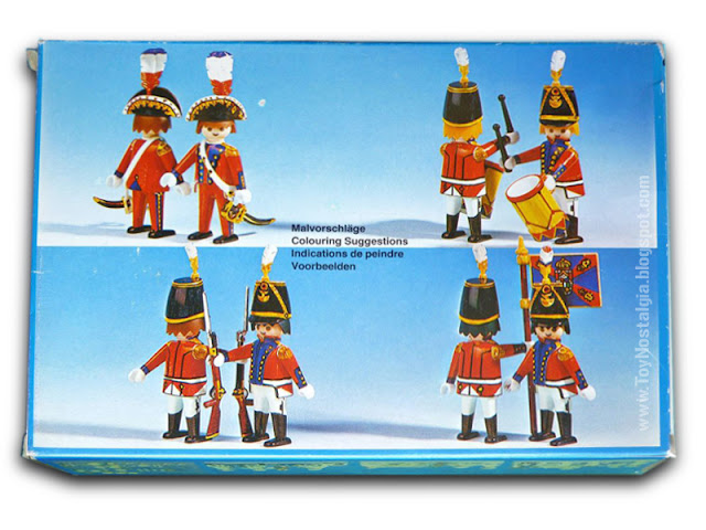 Playmobil COLOR 3608 napoleon soldiers box back