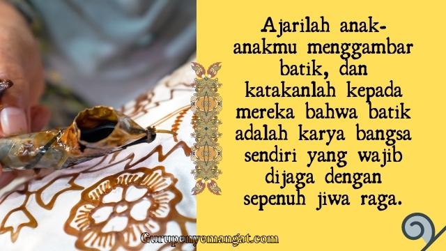 Quotes Mutiara Hari Batik Nasional
