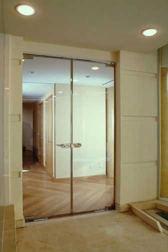 DOUBLE GLASS  DOOR PARTITION