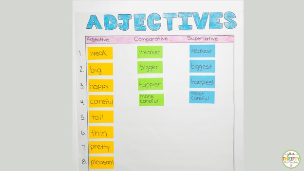 Looking for some fun comparative adjective and superlative adjective activities for upper elementary students? Check out these engaging activities.