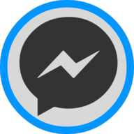 messenger button outline