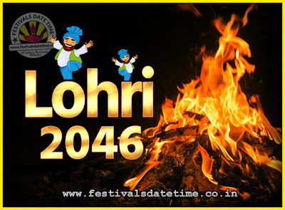 2046 Lohri Festival Date & Time, 2046 Lohri Calendar