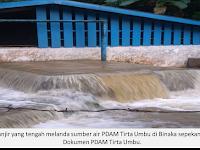 Banjir, PDAM Tirta Umbu Terpaksa Dimatikan