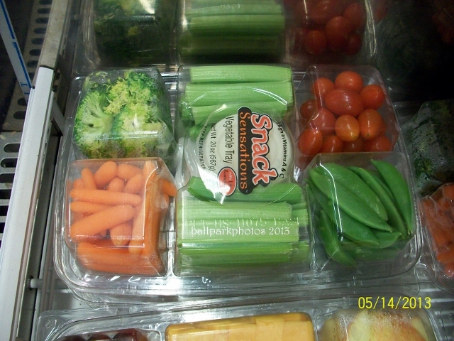 veggies in tray