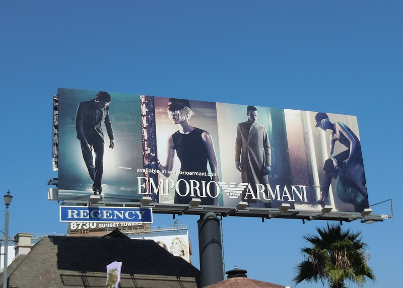 Emporio Armani Fall 2011 billboard