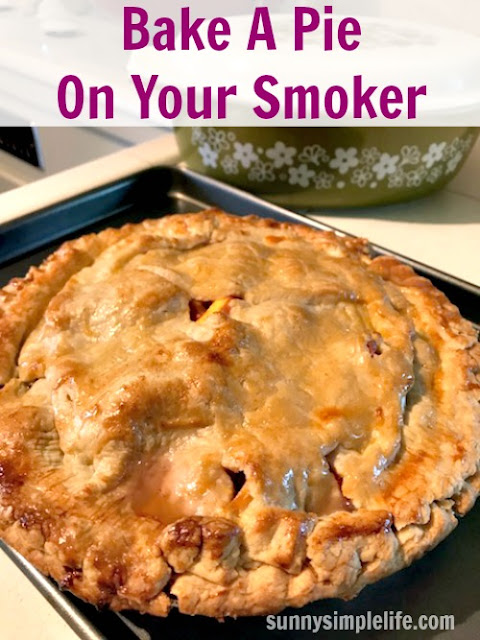 pie on the smoker, barbecue dessert recipe
