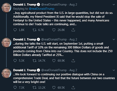 Trump tweets 10% tariff