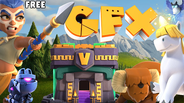 Clash of Clans gfx pack free clash heroes pets skin png