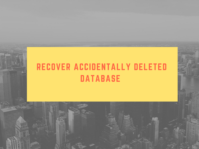 Recover Accidentally Deleted Database