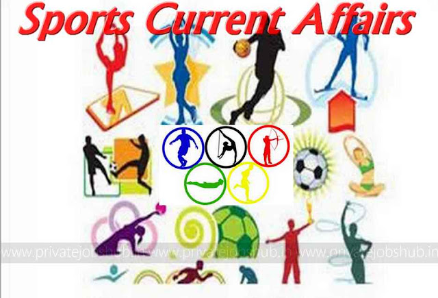 Sports Current Affairs 2018 Updated News/Events/Awards Questions