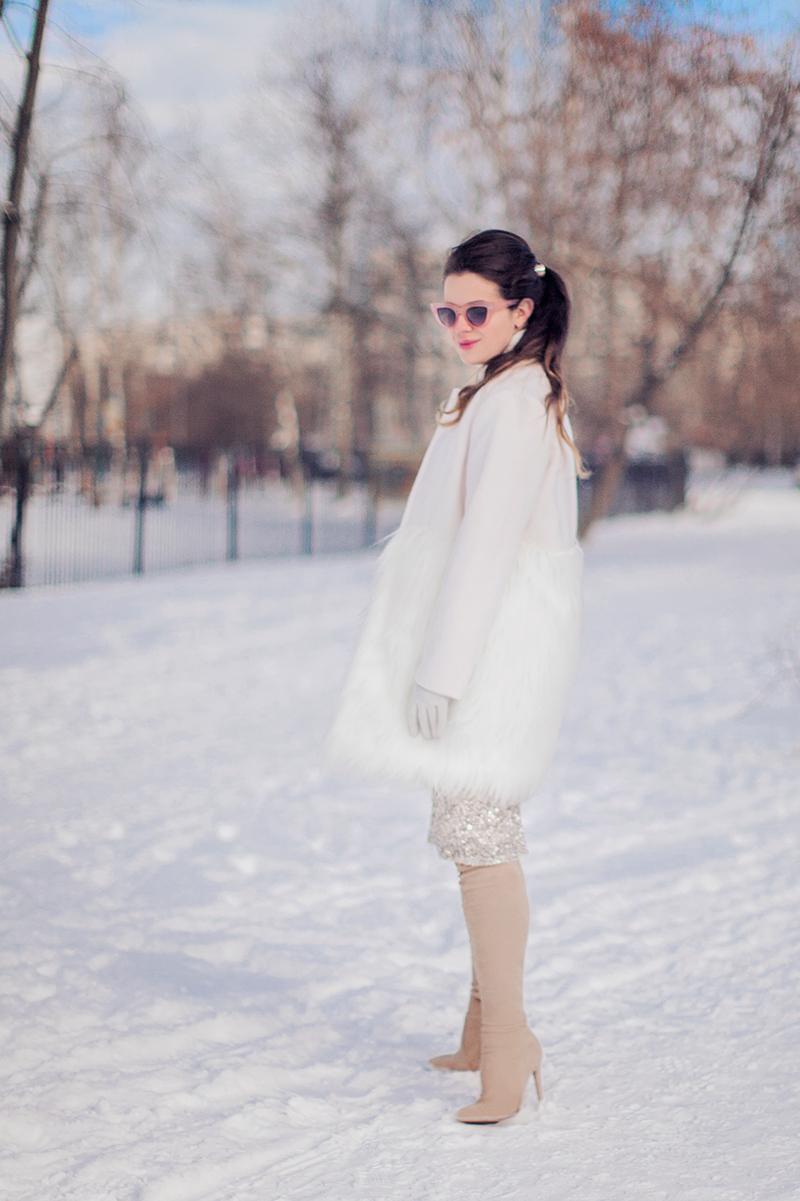 Chicwish Snow White Faux Fur Coat