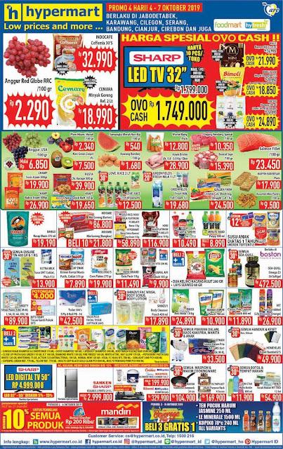 #Hypermart - #Katalog Promo Koran Weekend Periode 04 -07 Oktober 2019