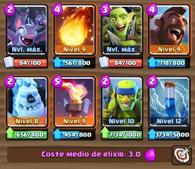 5 Mazo con Torre Infierno Clash Royale