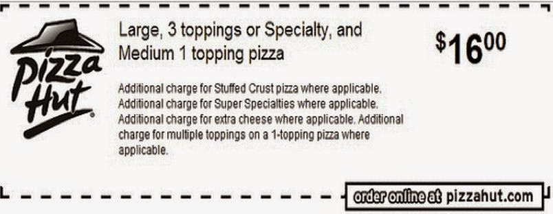 pizza hut coupons 2016