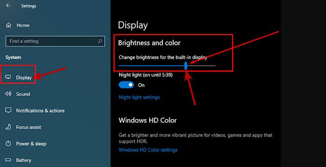 Cara Mengatur Tingkat Kecerahan Layar di Windows 10