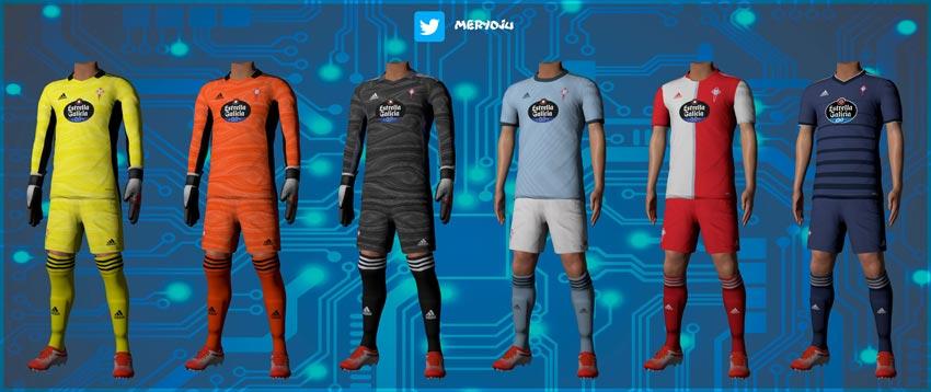 RC Celta de Vigo Kits 2021-22 For eFootball PES 2021