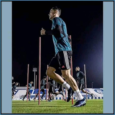 Today's training 😎 #CR7 😍😘...