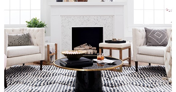 Aesthetic Oiseau Black Coffee Table from Nate Berkus