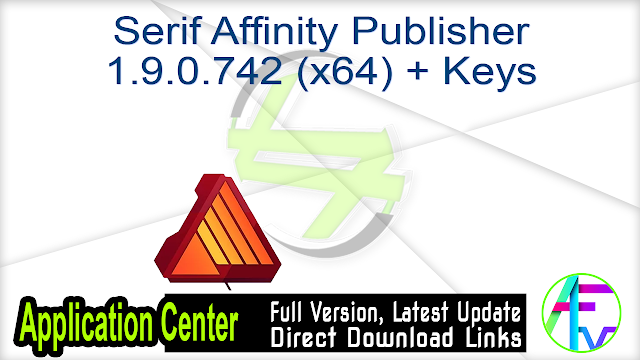 Serif Affinity Publisher 1.9.0.742 (x64) + Keys