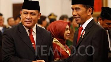 foto Tempo, Ketua KPK dan Jokowi