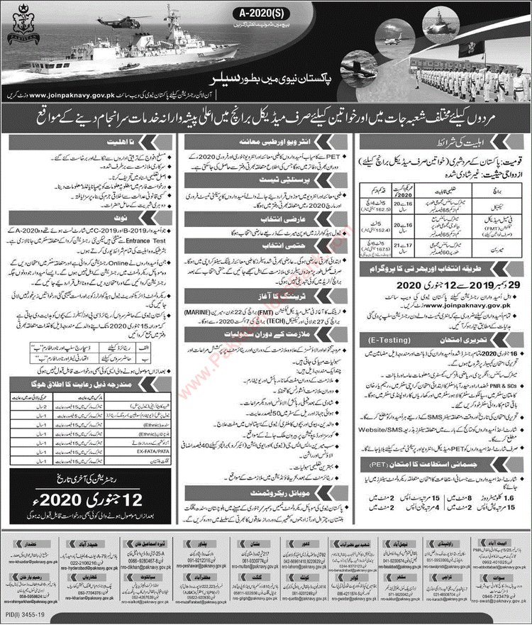Joinpaknavy.gov.pk , Pakistan Navy 2020 Jobs for Matric Pass - Join Pak Navy