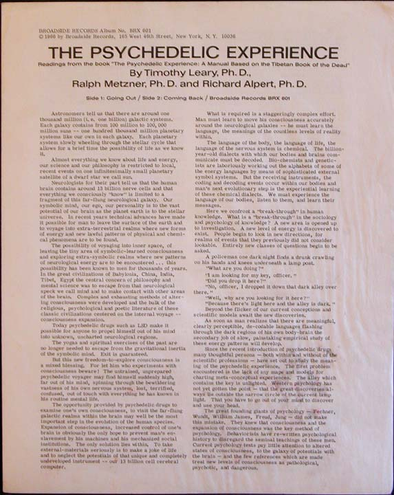 TIMOTHY LEARY TIBETAN BOOK OF THE DEAD PDF