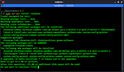 installing chromium on kali linux