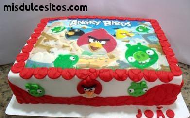 Tortas Angry Birds. Tortas artísticas. Venta de Tortas de Angry Birds en Lima.