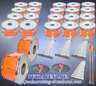 jual 1 set alat drum band TK standar 30 alat harga murah