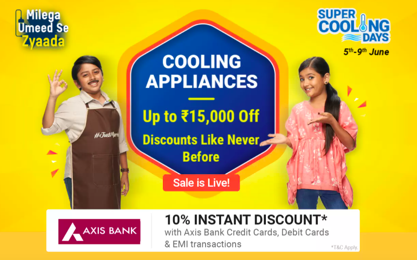 Rs. 15000 Discount on flipkart cooling days sale offers