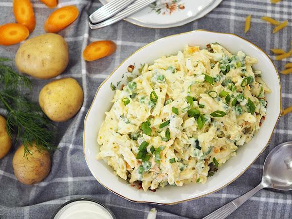 Pasta-perunasalaattia kaikella rakkaudella ja perunahaaste
