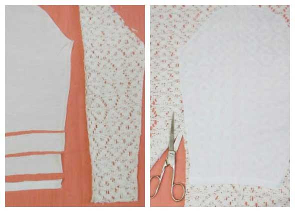 Cambiando las mangas de los jerseis