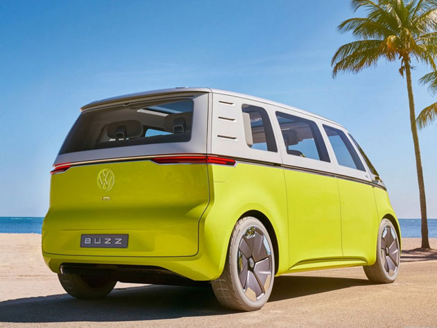 Electric Microbus Volkswagen Id Buzz Concept Vw Bus