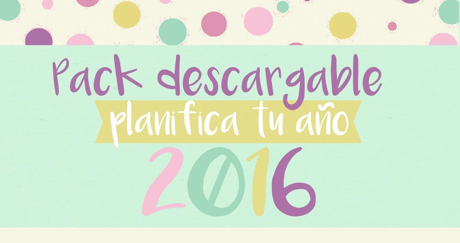Descargables: Pack Planifica Tu Año 2016 Con Agenda