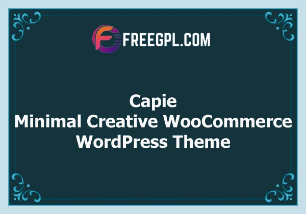 Capie - Minimal Creative WooCommerce WordPress Theme Free Download