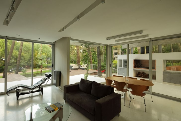 Interior of Modern Vacation House in Cariló, Argentina