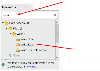 Operator Write Excel