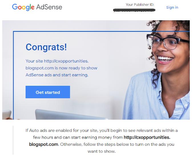 Pengalaman Apply Google Adsense Sendiri dan Lulus Hanya Empat Hari