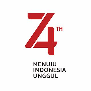 Logo Resmi Hut RI 74 - Tahun 2019 RESMI ORIGINAL
