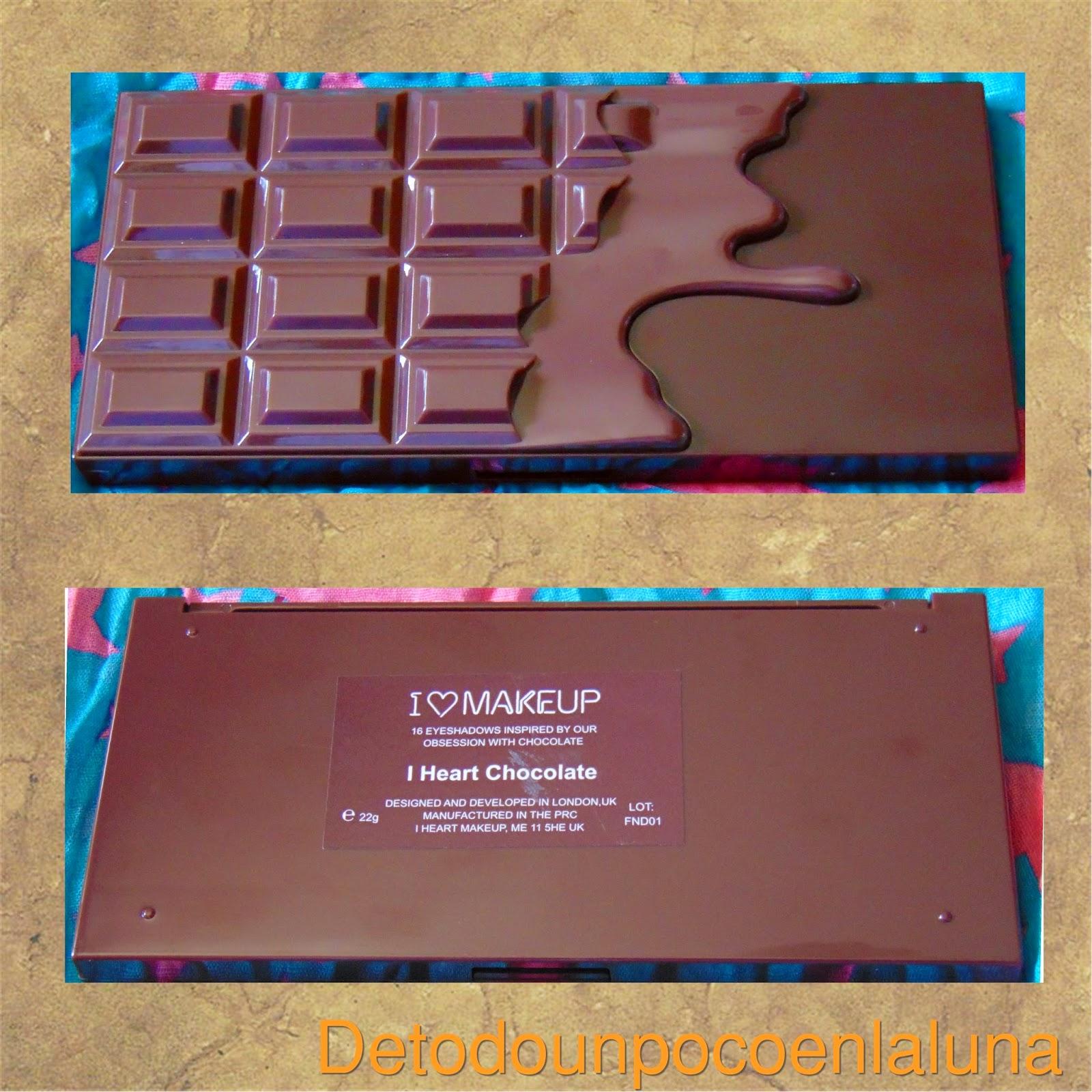 paleta I heart chocolate de I heart makeup