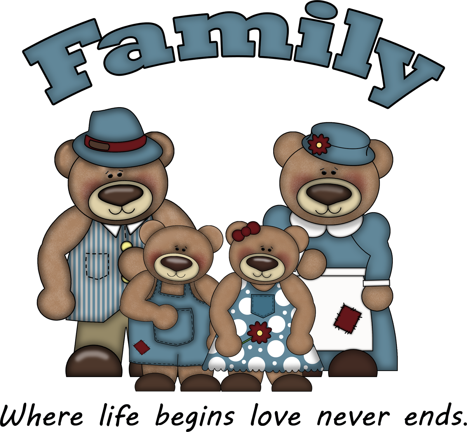 "GRANNY ENCHANTED'S BLOG: Free ""Family"" Bear Word Art 104"