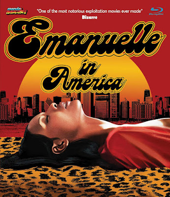 Cover art for Mondo Macabro's EMANUELLE IN AMERICA Blu-ray!