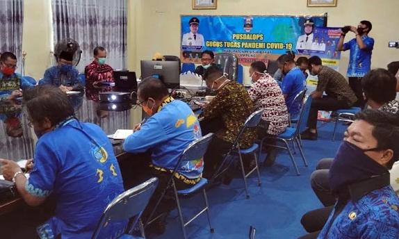 Bupati dan Wabup Pesibar Ikuti Vidcon Sosialisasi Kartun Petani Berjaya