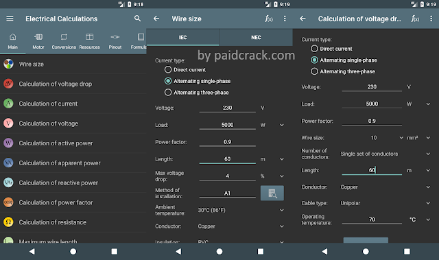Electrical Calculations Pro Apk 7.7.5 [Key No Needed]