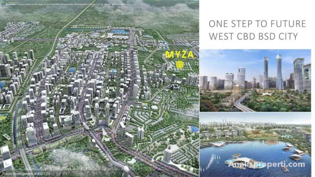 Lokasi Cozmo House Myza BSD City
