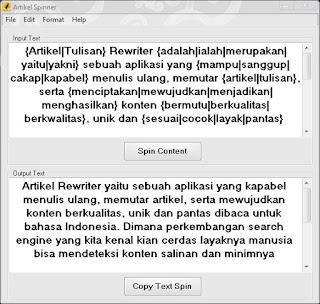 Tools Aplikasi Spin Rewrite Artikel Bahasa Indonesia Gratis