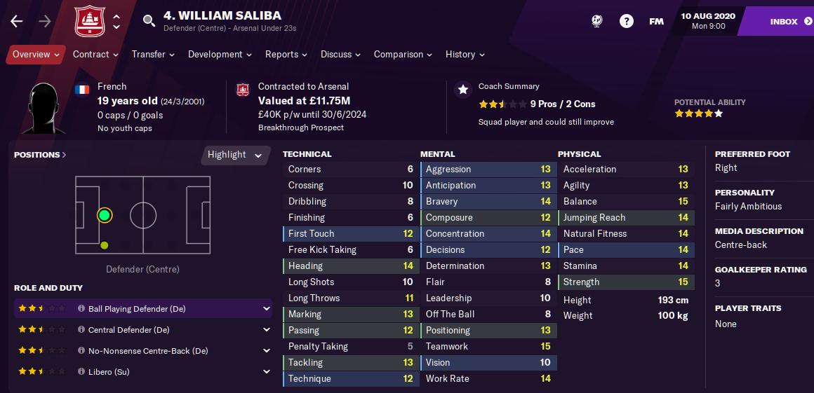 FM21 William Sadiba