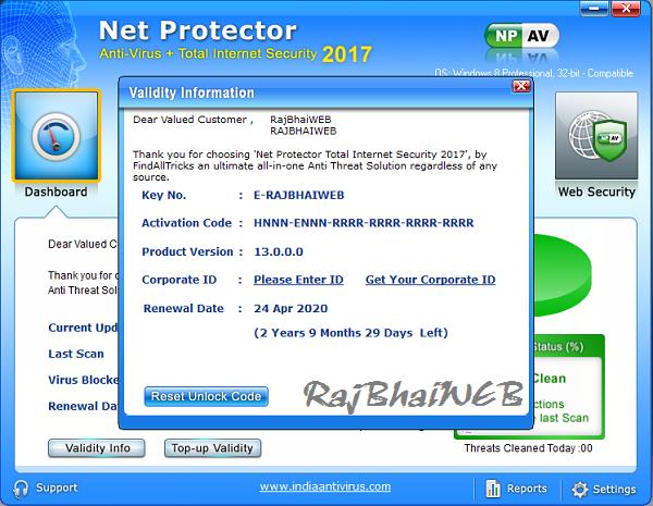 net protector unlock code keygen