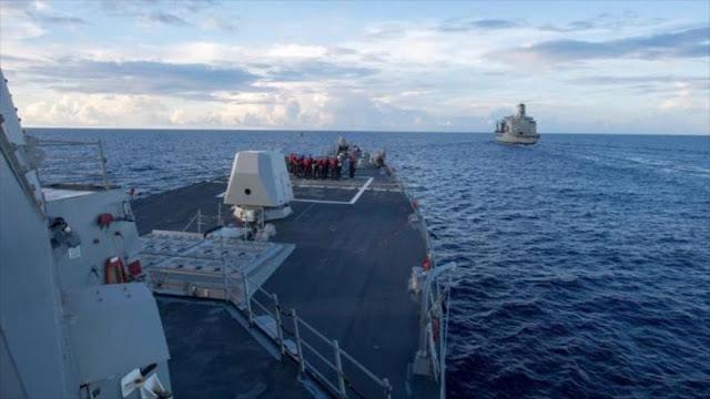 """China denuncia que buque militar de EEUU violó su """"soberanía"""""""